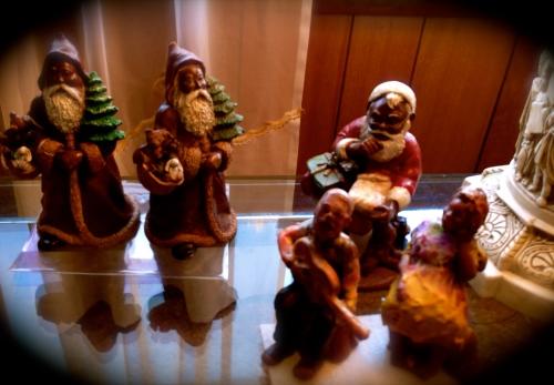 Black Santas on Christmas Eve