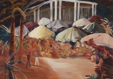 Nassau Market Scene painting