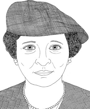 Frances Perkins by artist Robert Alan